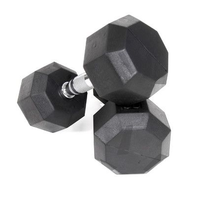 VTX by Troy Barbell 25 lbs Rubber Encased Octagonal Dumbbells (Set of 2)