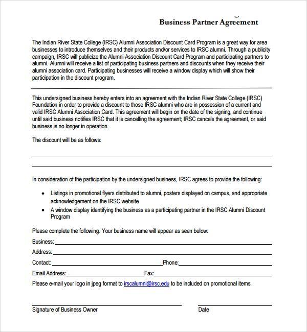 Business Partner Agreement