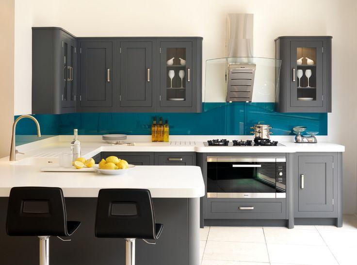 29 best deco cuisine images on Pinterest Kitchens, Gray kitchens