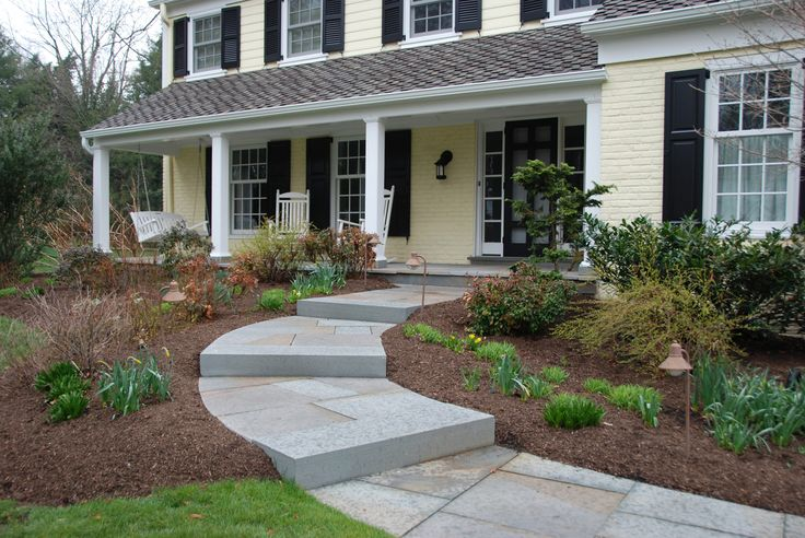 63 best images about front stoop walkway ideas on for Bluestone front porch