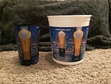 2017 National Championship Tampa Alabama Clemson Popcorn Bucket and Cup