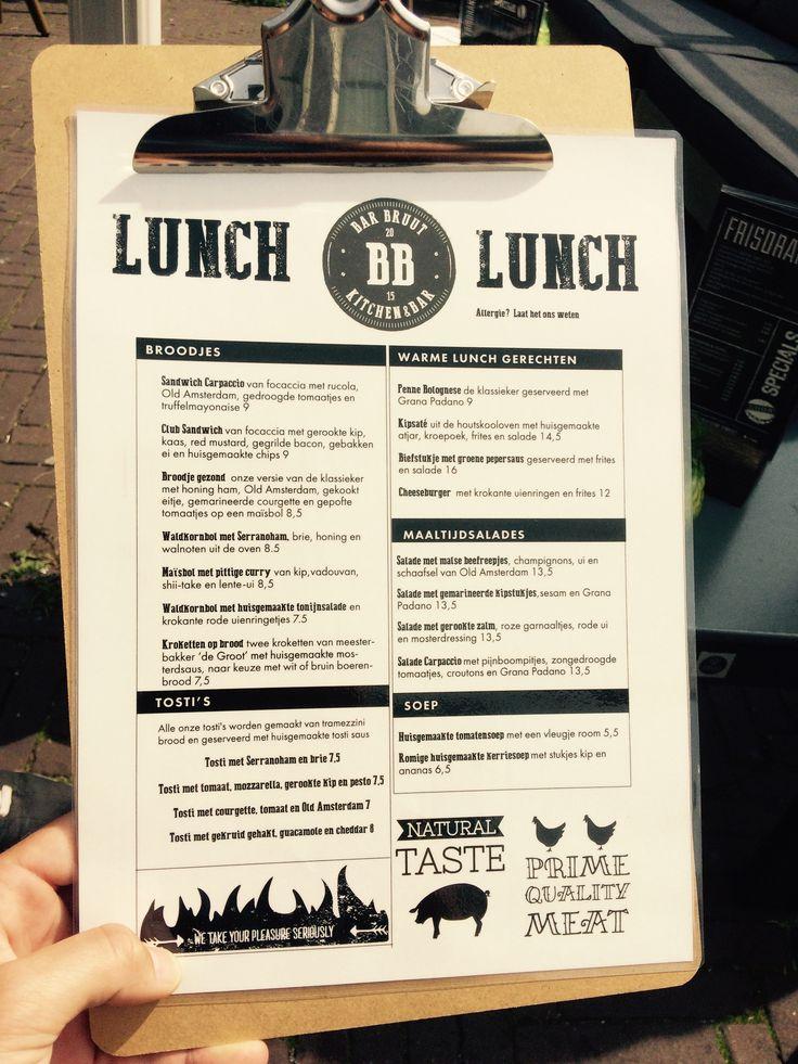 Bar Bruut lunchkaart #Leiden   Horeca menukaart op clipboard