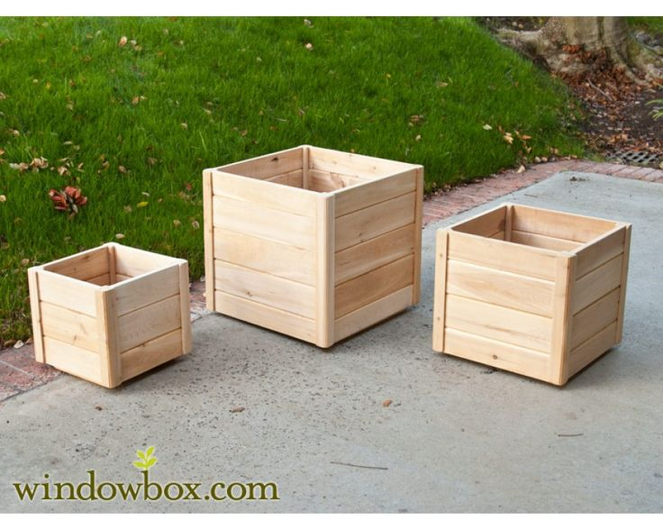 Shrub In Large Wood Planter Box | Cedar Wood Planter Boxes