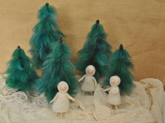 Seasonal Table Waldorf inspired dolls :The  snow child