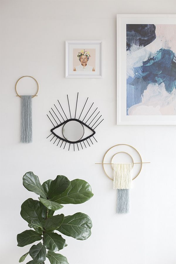 DIY Decorative eye wall mirror