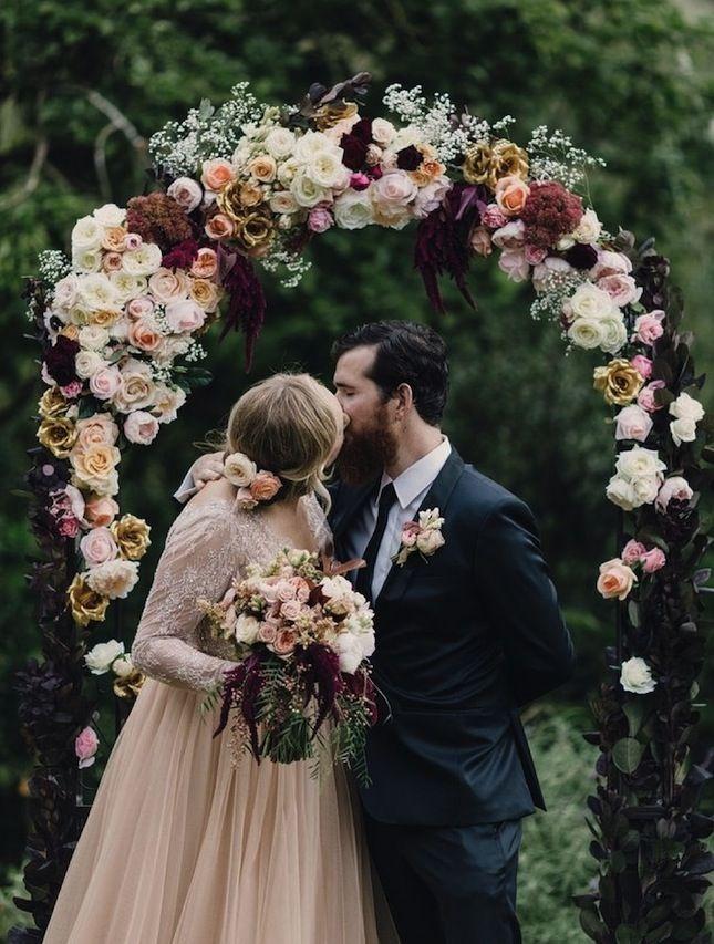 A romantic fall wedding.