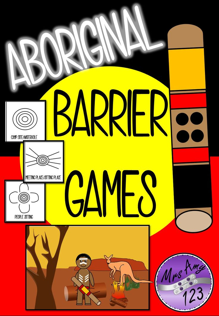 Aboriginal Barrier Games- great for NAIDOC Week