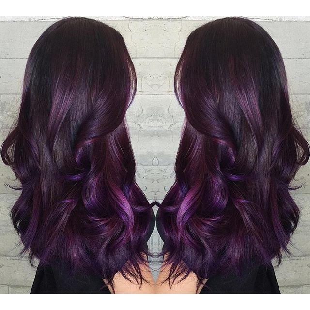 best 25 long purple hair ideas on pinterest dark purple
