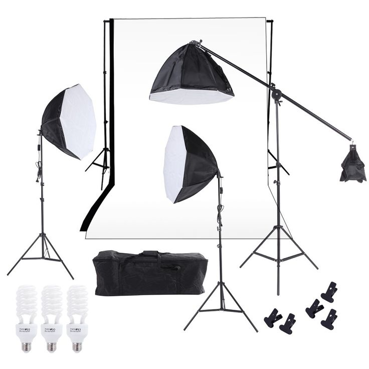 Best Photography Studio Lighting Softbox Photo Light Muslin Backdrop Sale Online Shopping