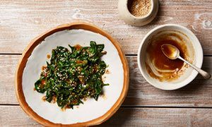 Ken Yamada's spinach goma-ae.