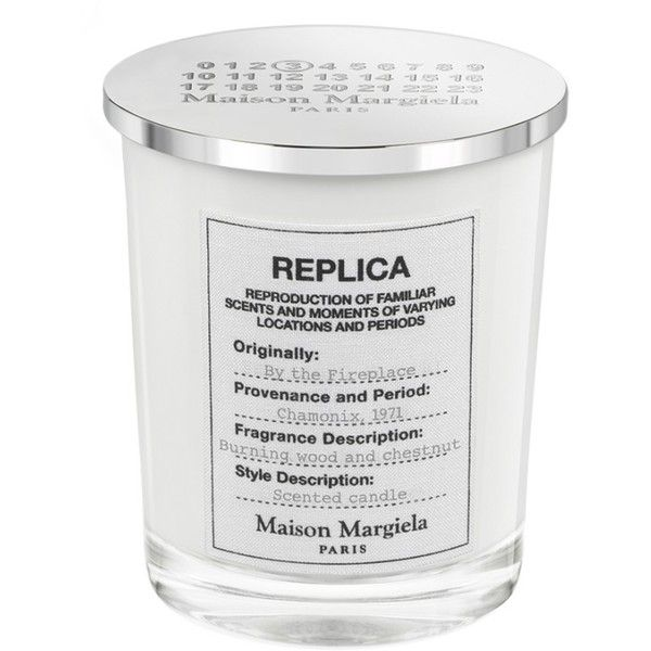 Maison Margiela Replica By The Fireplace Candle (€52) ❤ liked on Polyvore featuring beauty products, fragrance, no color, maison margiela perfume, blossom perfume, maison margiela fragrance, maison margiela and flower fragrance