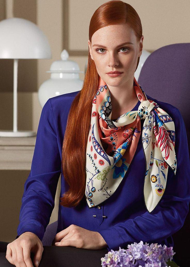 Silk Square Scarf - Fruitful Colours by VIDA VIDA bhQOZcZdJ