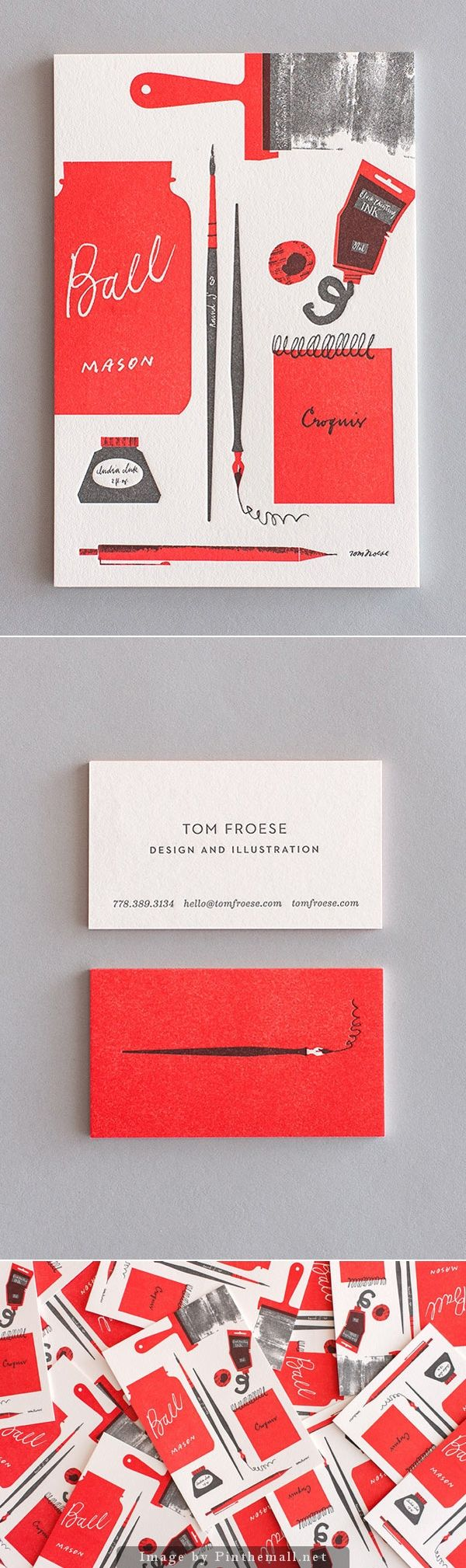 Tom Froese's Illustrated Personal Stationery Design. Business card design