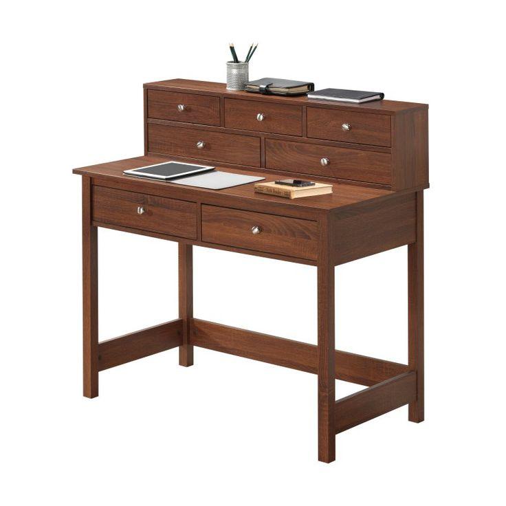 Techni Mobili Elegant Desk/Hall Table with Storage - RTA-8401-OAK