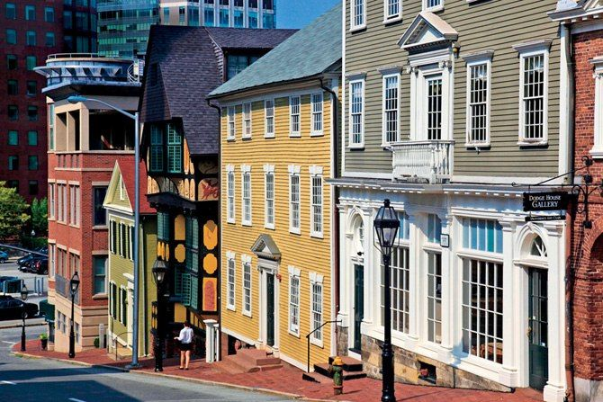 Architectural Digest says Providence is the country's best small city...let's hear it for Providence!  Thomas Street in Providence, Rhode Island.