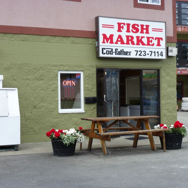 Codfather in Port Alberni BC - Great selection of fresh seafood.