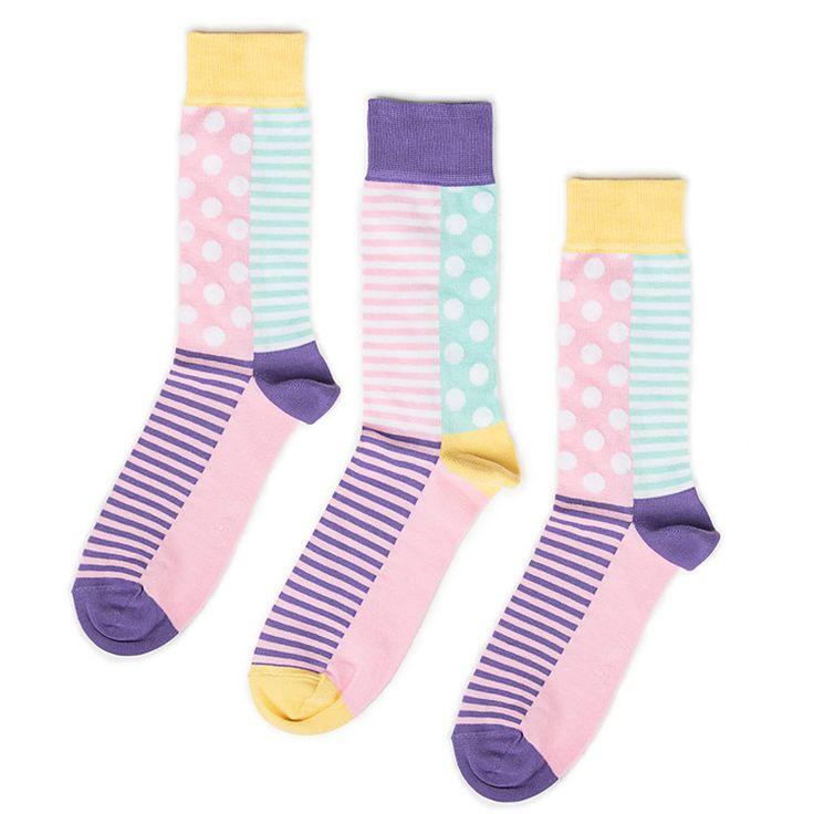 Pastel Socks - Mismatching Socks - Fondu - Odd Pears
