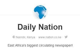 Daily Nation | Pinterest Account | Kenya Nairobi | Newspaper | https://www.pinterest.com/dailynation/