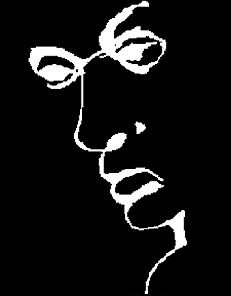 Atención, pregunta: ¿Ves un rostro que te observa? ¿Sólo ves eso? Fíjate bien, oculta algún secreto. ¿Lo ves? ¿Si te digo que es un rostro mentiroso y embustero ves algo más? Sus ojos son una L, su nariz dibuja una I, su boca esconde una A y su cuello una R. L-I-A-R en inglés significa mentiroso. ¿Original, verdad?
