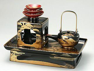 Traditional Japanese Craft Art Wajimanuri