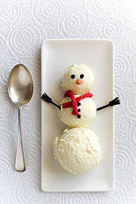 icecream snowman from Georgie Porgie