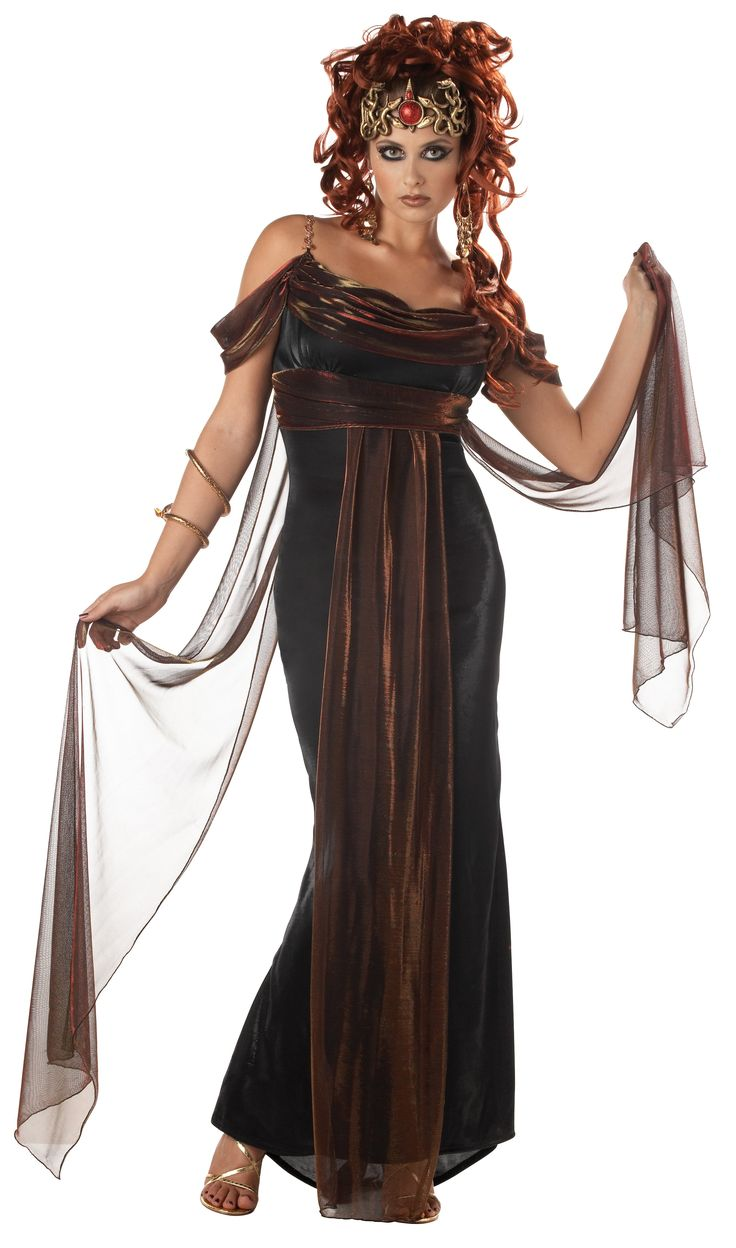 medusa the mythical siren adult costume includes elegant dress with attached drape styling and matching snake headpiece hypnotize the men with your - Mystical Halloween Costumes