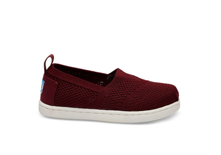 undefined Burgundy Mesh Tiny TOMS Knit Classics
