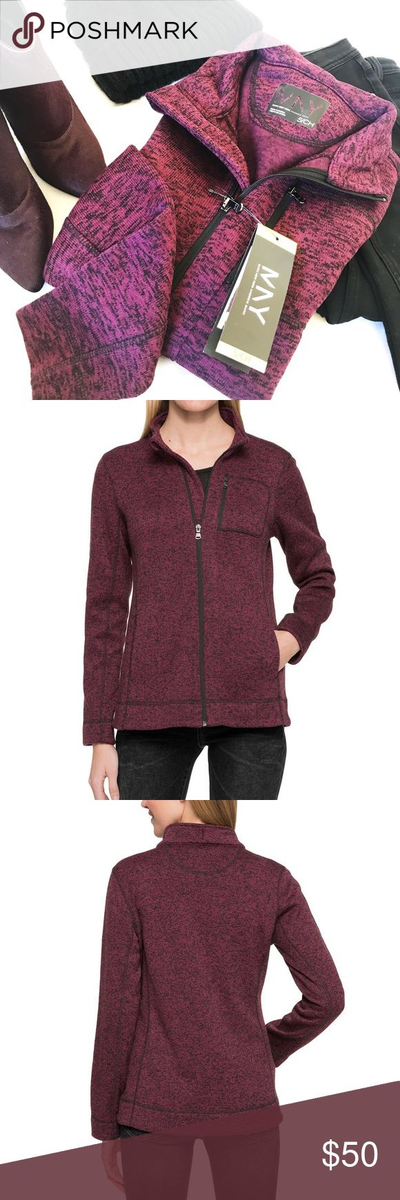 MARC NY ANDREW MARC FULL ZIP JACKET Marc NY Andrew Marc full zip jacket with chest pocket and 2 additional pockets on sides. Perfect jacket for fall and winter. Collar can fold or zip all the way up. Lightweight, yet thick enough to keep u warm. Andrew Marc Jackets & Coats