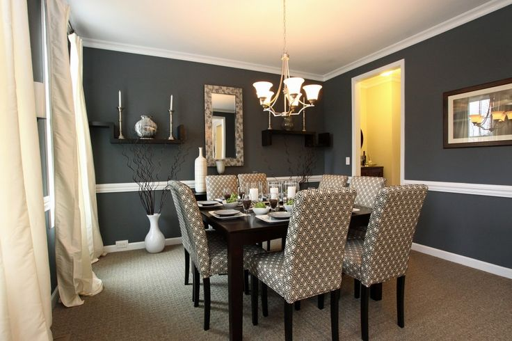 Dining room paint ideas with chair rail dining room for Dining room chair rail paint ideas