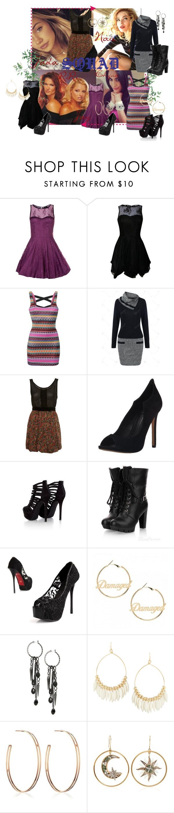"""Squad NAIE, RIRI , JADA,CHYNA & JAY"" by wonderland-junkie ❤ liked on Polyvore featuring WWE, AX Paris, INC International Concepts, Reverse, Miss Selfridge, Dolce Vita, Missguided, Kvoll, Lane Bryant and Fragments"