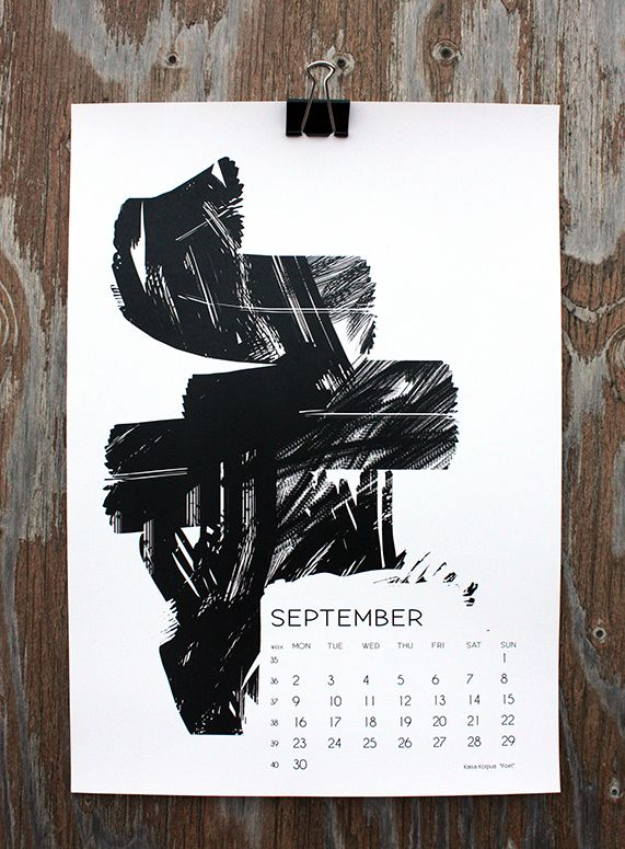 """Poet"" by Kaisa Korpua, for September in calendar 13."