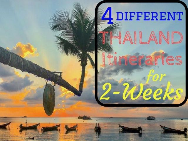 4 different itineraries for 2 weeks in Thailand. From island hopping adventures to temples and jungle trekkings complete with Thailand itinerary maps and the best places to see.