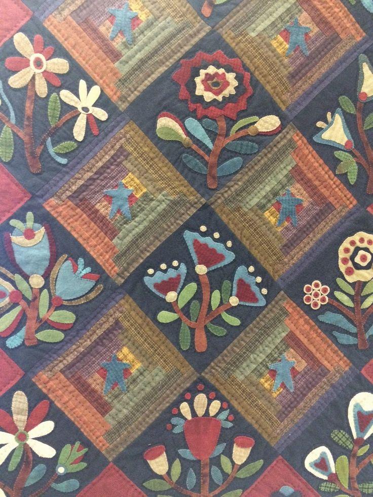1640 best Patchwork & yorgan ve aplike Floral images on Pinterest