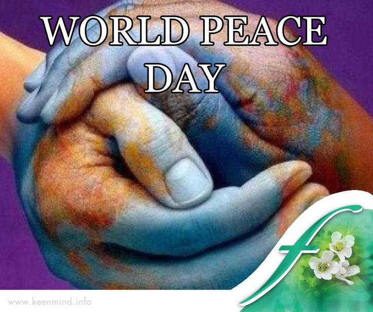Happy #WorldPeaceDay! Let's create peace and happiness among and within all nations and peoples today. #Flordis #KeenMind