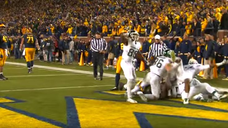 Raw footage of Michigan State touchdown shows football without the sugarcoating