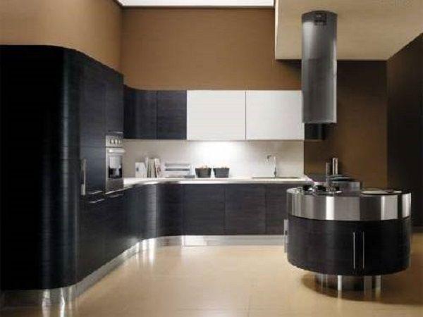 островная кухня в стиле модерн