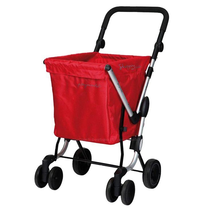 Playmarket We Go - Carro de compra, color rojo: Amazon.es: Equipaje