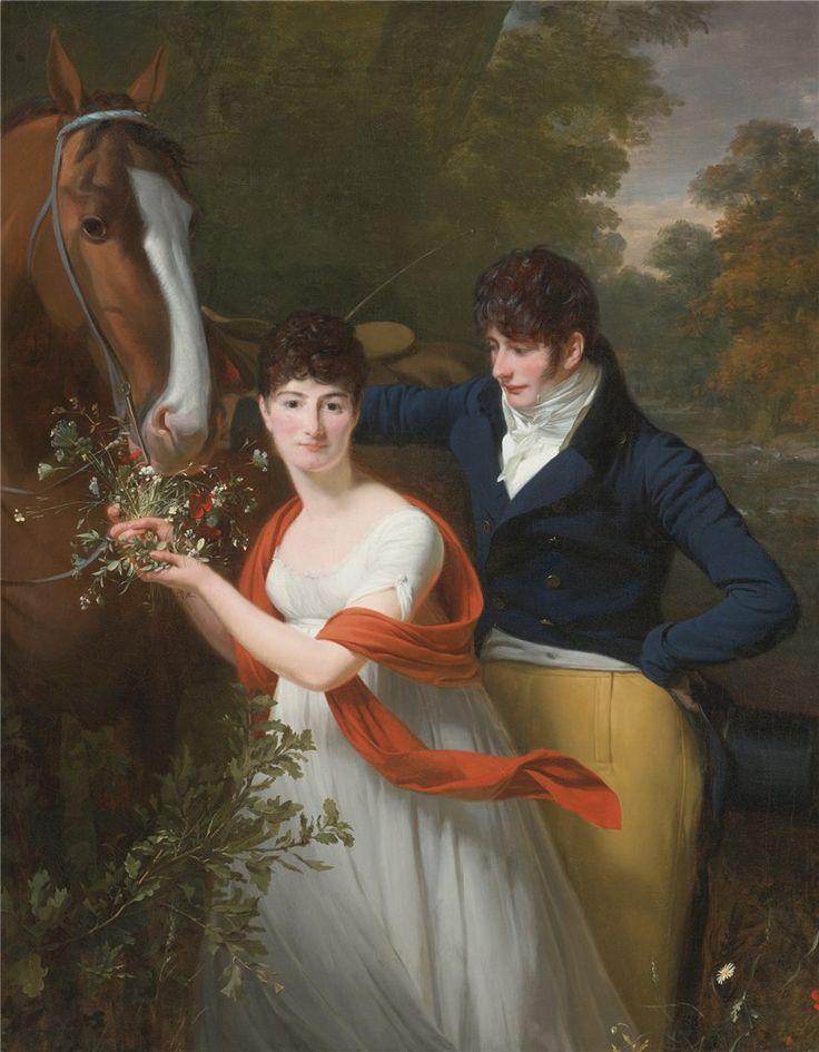 1802 Henri-Pierre Danloux - Portrait of Jean-Louis Gustave d'Hautefort, and His Sister, Marie-Thérèse-Thaïs d'Hautefort