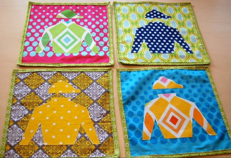 Jockey Silks Table Decor!Diy Placemats, Polka Dots, Silk Placemats, Dots Chairs, Derby Placemats, Parties Ideas, Kentucky Derby, Jockey Silk, Derby Parties
