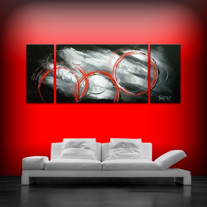 53 best black red white images on pinterest abstract for Black canvas painting ideas