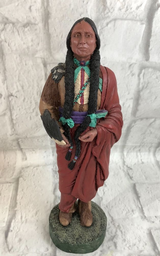 Michelle Phelps Native American Medicine Man Vintage Figurine Signed Collectible | Collectibles, Cultures & Ethnicities, Native American: US | eBay!