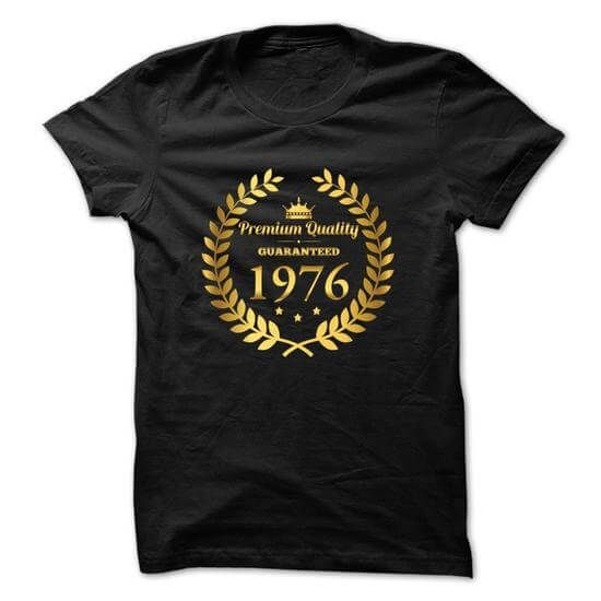 40th birthday T-Shirt Black T-Shirts & Hoodies