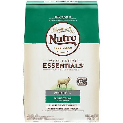 NUTRO WHOLESOME ESSENTIALS Senior Dry Dog Food Lamb 30 lbs.