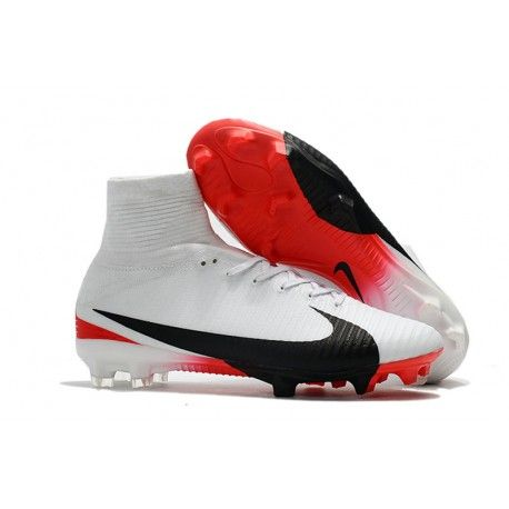 Bianco Rosso Nero nike scarpini calcio, scarpini nike bambino, scarpe da calcio nike mercurial