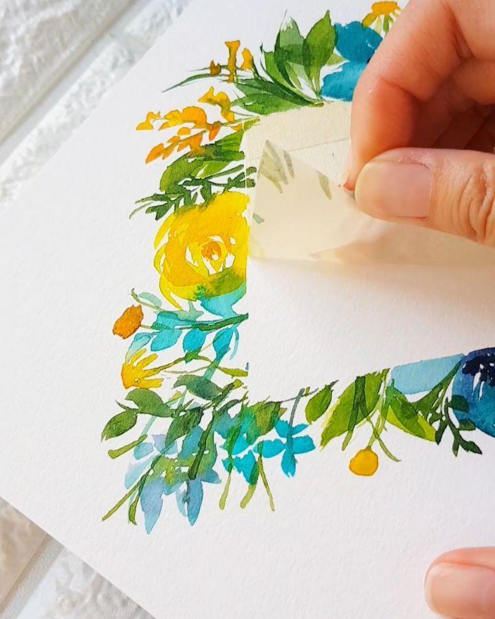 5 461 Otmetok Nravitsya 38 Kommentariev Joly Watercolor Artist Jolypoa V Instagram Another Masking Tape Masking Tape Art Watercolor Artist Tape Art