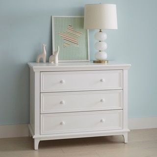 The Kolcraft 3-Drawer Transitional White Dresser offers plenty of storage space while bringing a simple charm to whichever room you choose. This simple transitional dresser takes just minutes to assem