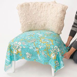 diy chair cover - may be able to alter to no-sew