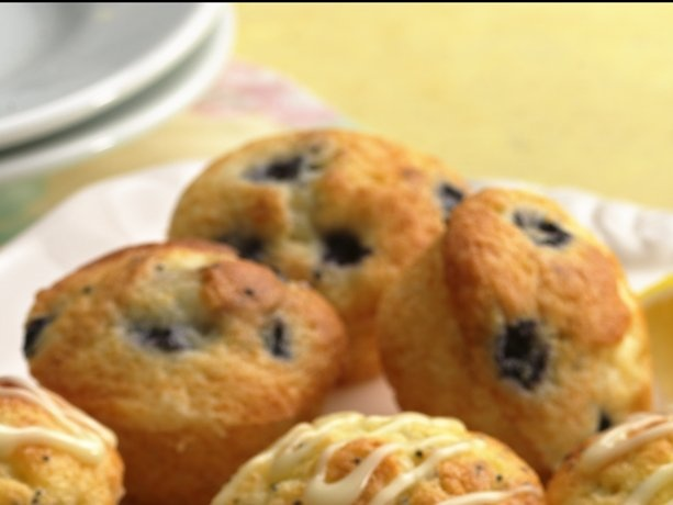 The low fat version is to die for! Replace the oil, whole egg and whole milk for 1/4 cup Apple sauce, 2 egg whites, 3/4 cup skim milk and add another cup to 1 1/2 cups of fresh blueberries. Yields 140 cal and 1.5g of FAT per muffin. Awesome!!!