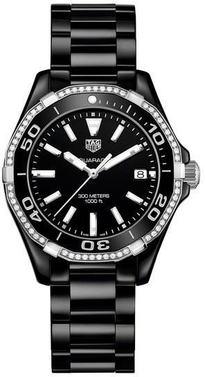 @tagheuer Watch Aquaracer 300m Ceramic Ladies Pre-Order #add-content #basel-16 #bezel-diamond #bezel-unidirectional #bracelet-strap-ceramic #brand-tag-heuer #case-material-ceramic #case-width-35mm #date-yes #delivery-timescale-call-us #dial-colour-black #