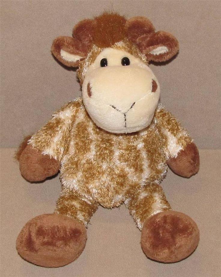 "10"" Manhattan Toy Tan Cream Giraffe Plush Stuffed Animal Floppy Brown Bean Bag #ManhattanToy"